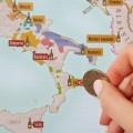 Carte des vins d'Europe à gratter