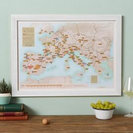 Europese wijnkaart om te krabben