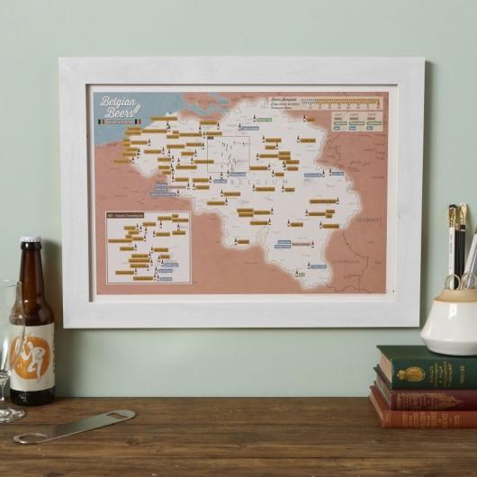 Carte des bières belges à gratter