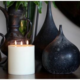 Uyuni Triple Flame Bougie Led Ivory D15H15CM