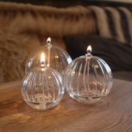 Set de 3 lampes à huiles