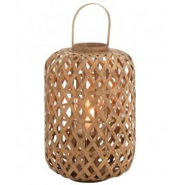 Lanterne de jardin en bambou naturel