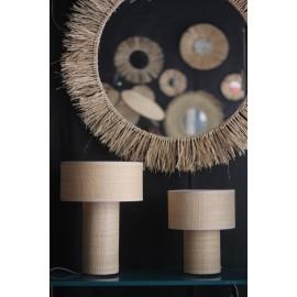 Tafellamp in raffia