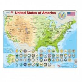 Puzzel USA 90 stuks