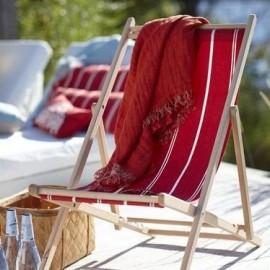 Houten strandstoel met afneembare hoes