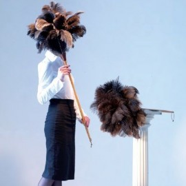 Struisvogelveren plumeau