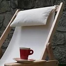 Hoofdkussen voor houten ligstoel