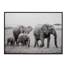 Cadre Famille d'éléphants