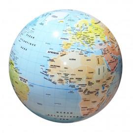 Globe gonflable - pays et villes du monde