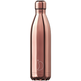 Chilly's Bottle Chrome Or Rose 750ml