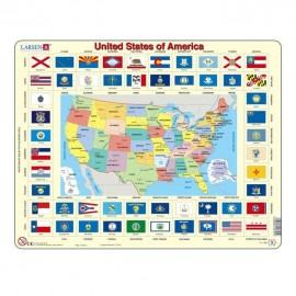 Puzzel USA 70 stuks