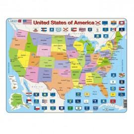 Puzzel USA 48 stuks