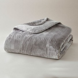 Plaid ultra-doux gris perle