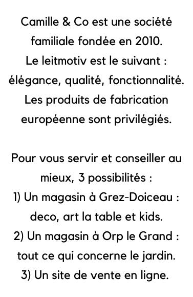 Camille & Co est une société familiale belge
