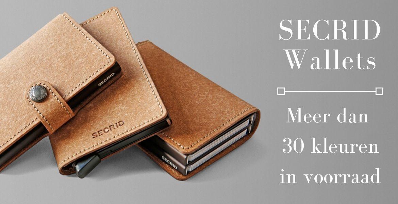 Secrid wallets : meer dan 30 kleuren op voorraad